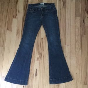 Stylish low waisted bell bottom Hudson jeans